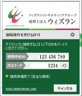 PCサポートサービスの画面